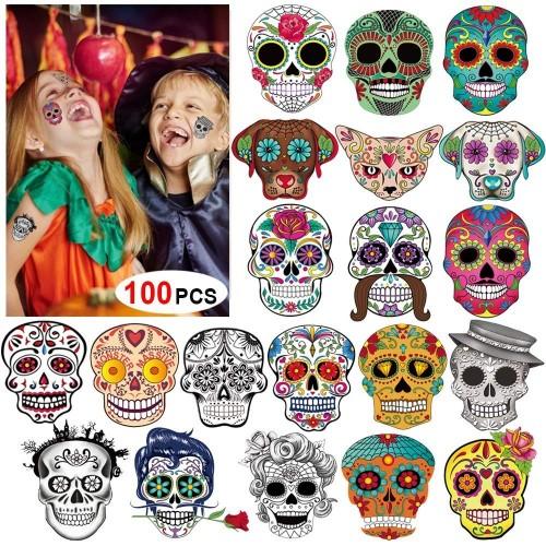 Tatuaggi Temporanei teschi Halloween