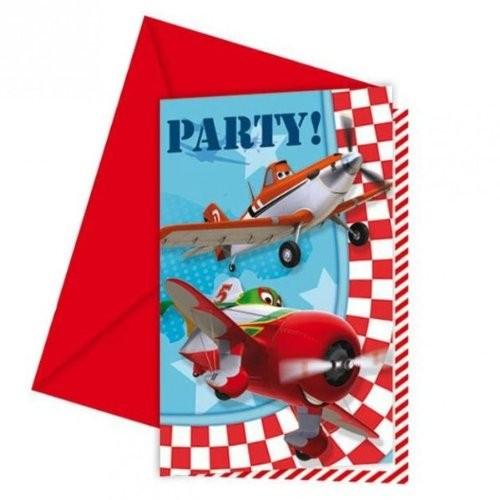 Inviti compleanno Planes - confezione da 6