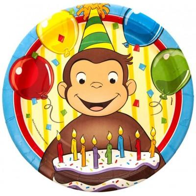 8 Piatti Curioso come George per feste di compleanno