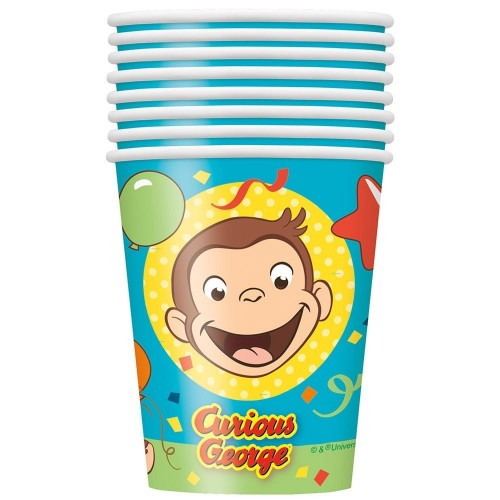 Curious George 9oz Party Cups [8 Per pack]