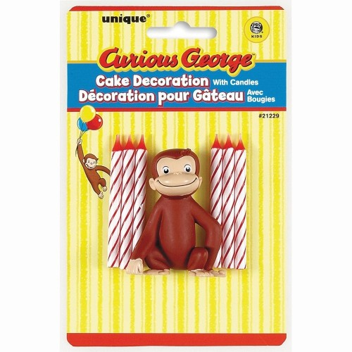 Unique 137884 Curious George Cake Decoration With 6 Candles