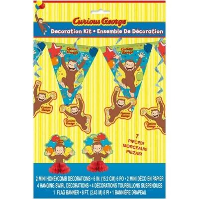 Curious George 7-Piece Decoration Kit