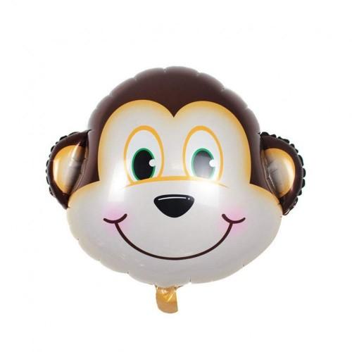 Amosfun 8pcs Palloncino stagnola in Alluminio Scimmia Testa Forma Palloncino Partito Palloncino Decorazione per Bambini Birth