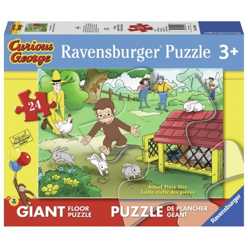Ravensburger George  Formato Differente  - Puzzle 24 Pezzi