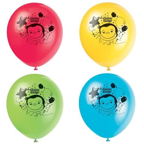 8 palloncini in lattice Curioso come George