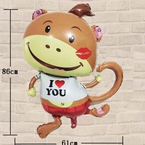 TOYMYTOY Palloncino a tema Monkey Foil Balloon per bambini Decorazioni di nozze per feste di compleanno