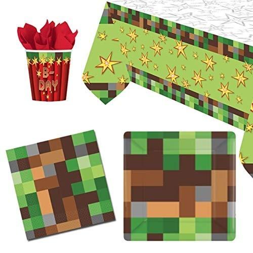 Kit per 8 bambini tema Minecraft