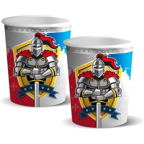 Bicchieri tema cavalieri - medioevo