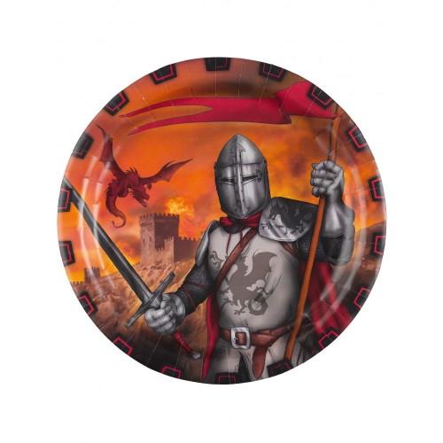 8Piatti tema Cavalieredelle Crociate