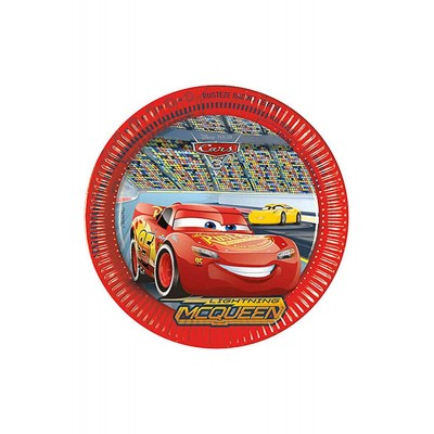 Piatti Cars 3 da 23 cm, confezione da 8 pz