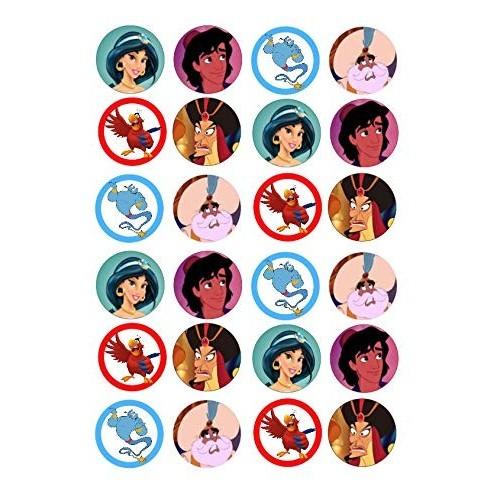 24 Mini cialde con i personaggi di Aladdin