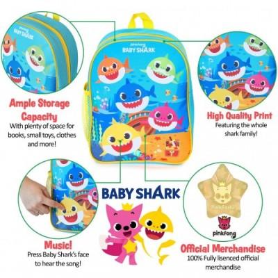 Pinkfong Zaino Baby Shark | Zainetto Bambino Musicale Baby Shark Ufficiale, Zaino Asilo Per Scuola Elementare, Materna, Nido