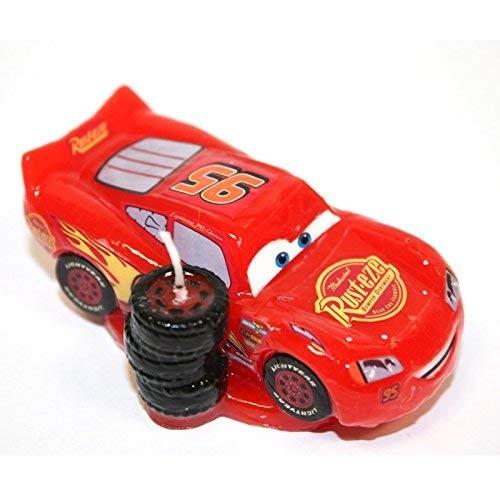 Candelina Saetta McQueen Cars -  8,5 x 2,5 cm