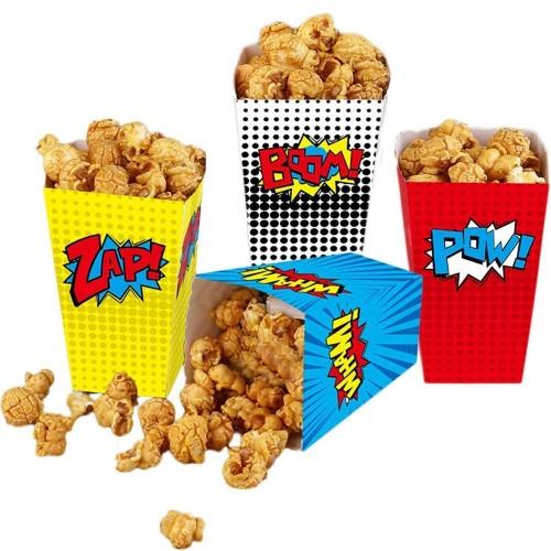 24 scatole Pop Corn super eroi