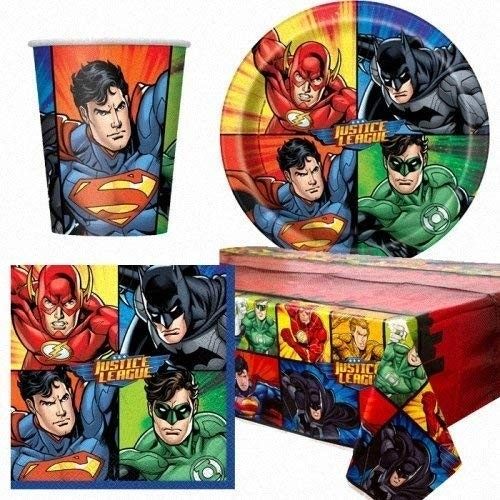 Kit per 8 persone Justice League