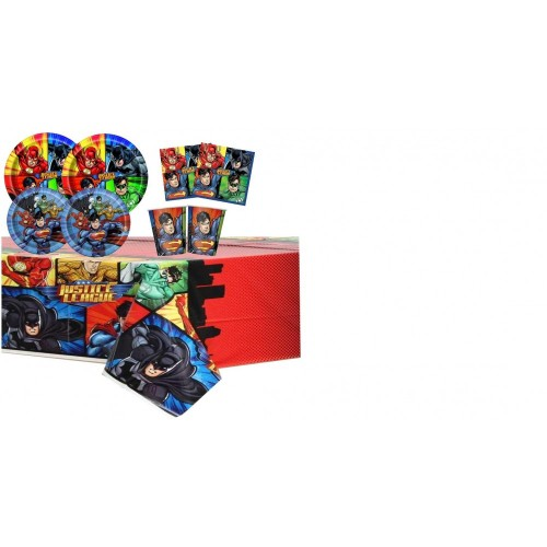 Kit per 16 bambini tema Justice League