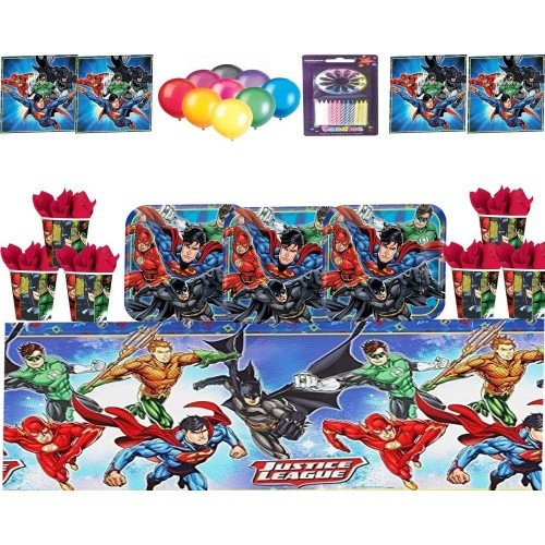 Set per 32 persone tema Justice League - DC Comics
