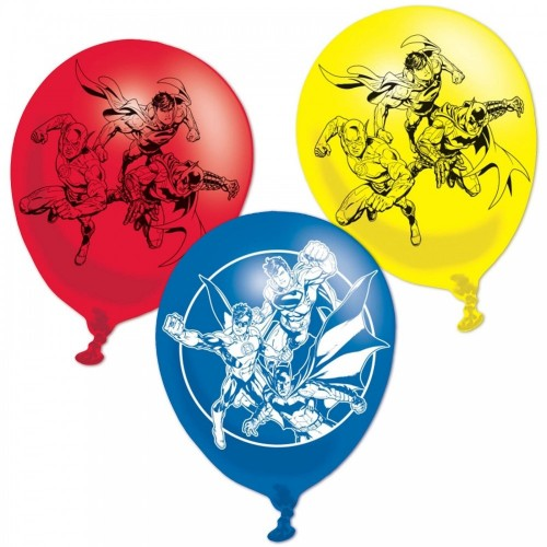 Palloncini in lattice Justice League multicolor