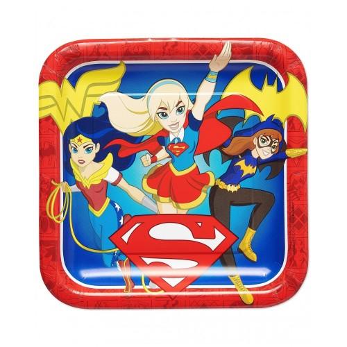 Piatti DC Super Hero Girls quadrati