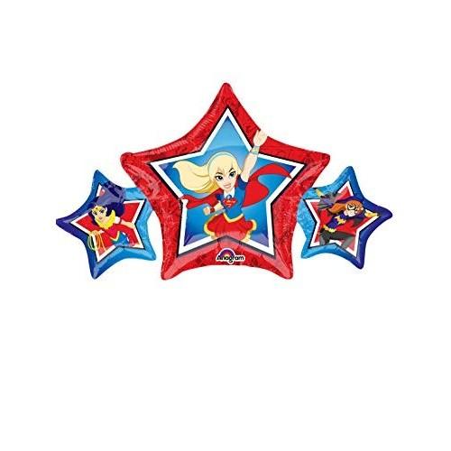 5 Foil Stella DC Super Hero Girls per feste