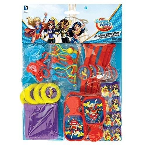 DC Super Hero Girls Wonder Woman Supergirl Batgirl Party Value Favour Pack - 48 themed items by DC Superhero Girls