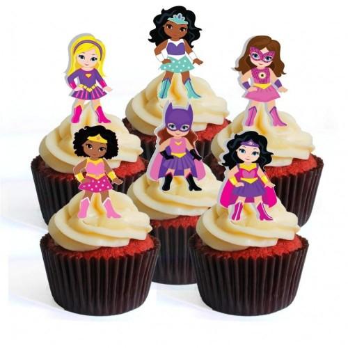 12 Cupcake Toppers DC Superhero Girl