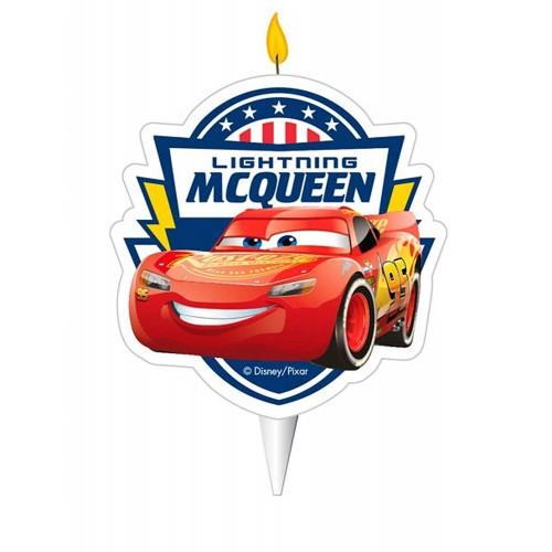 Candelina 2D Cars, dimensioni 5,5 cm