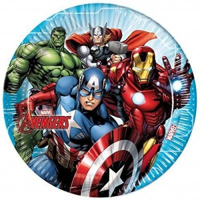 Piatti Avengers, con. da 8 pz, 23 cm diametro, per feste e party