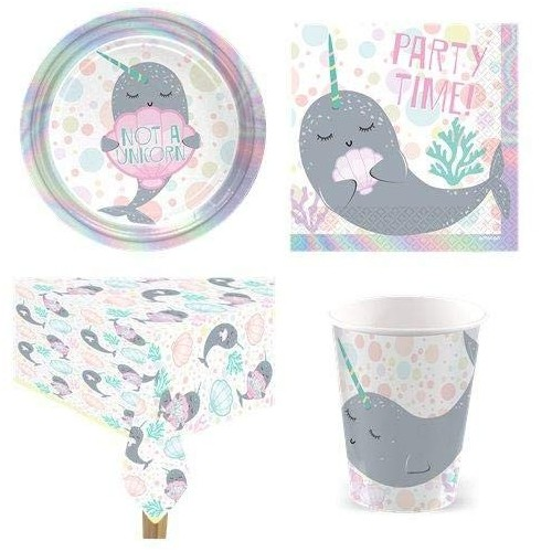 Kit per 8 persone Narwhal Party