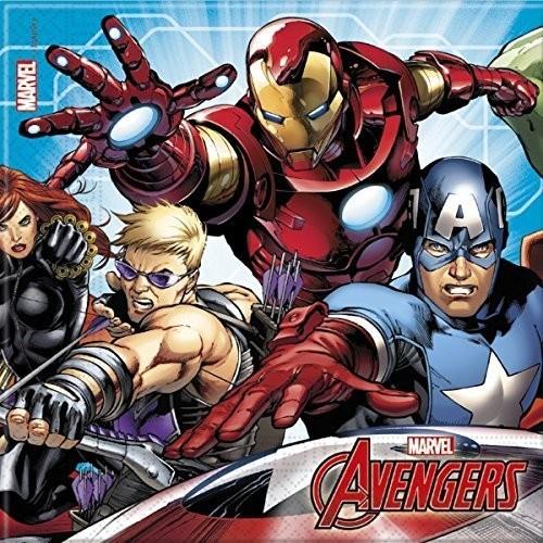 Tovaglioli Avengers, 33x33 cm - 20 pz