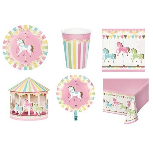 Kit per 8 bambini tema giostra / Carousel