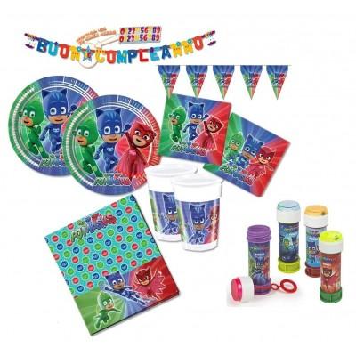 Kit compleanno 40 persone PJ Masks