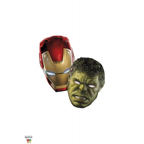 Maschere Avengers per feste, in cartoncino
