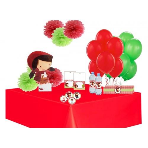 Irpot Addobbi Festa a Tema con Soggetto in Polistirolo Palloncini Decorazioni adesive  Cappuccetto Rosso