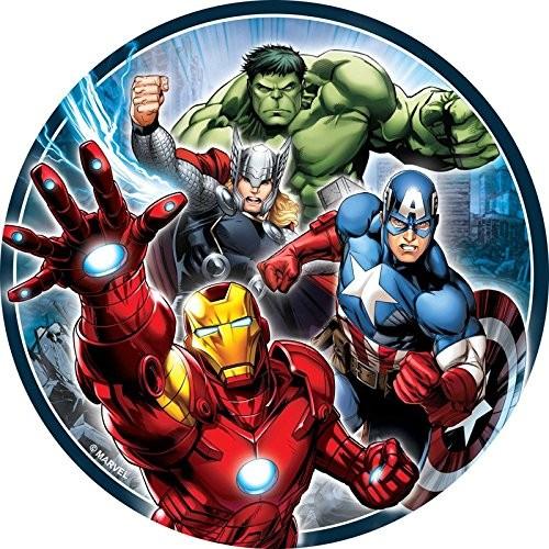 Cialda Avengers per torte, diametro 20 cm