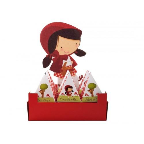Set Cappuccetto Rosso decorazione polistirolo con scatoline