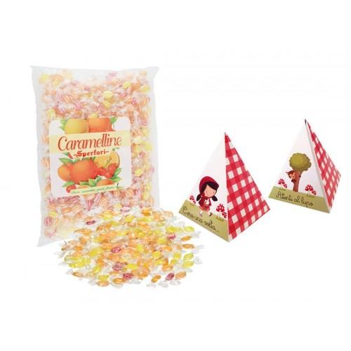 30 Scatoline con caramelline Sperlari tema cappuccetto Rosso