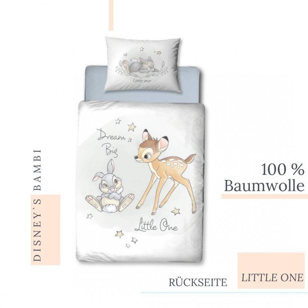 Copripiumino 100x135.Set Letto Tema Bambi Disney Con Federa E Copripiumino