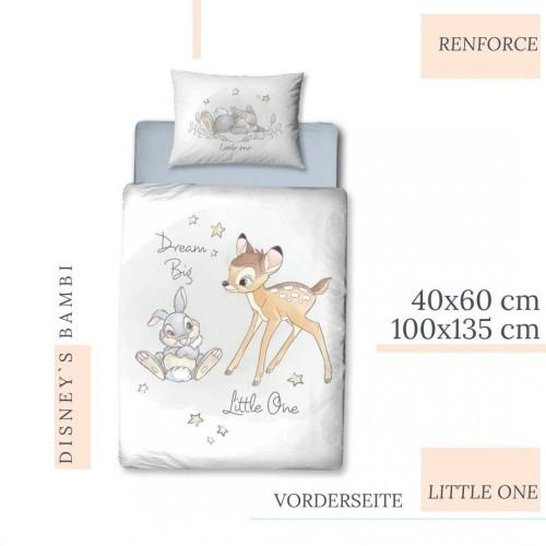 Set Letto Tema Bambi Disney Con Federa E Copripiumino