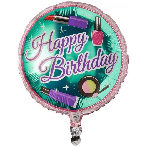 Suki Gifts S9317715 Happy Birthday Make Up - Palloncino a elio, multicolore