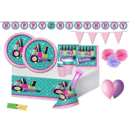 Creative Converting Kit n64 Accessori Compleanno Make up Party - Sparkle Spa Coordinato