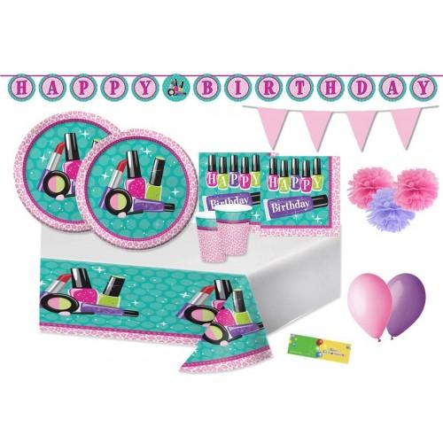 Kit per 32 bambini tema Make up Party - Sparkle SPA