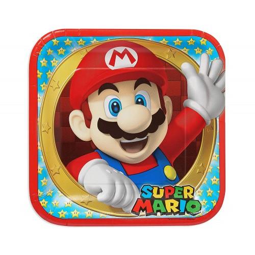 Piatti Super Mario Bros da 23 cm, per feste di compleanno