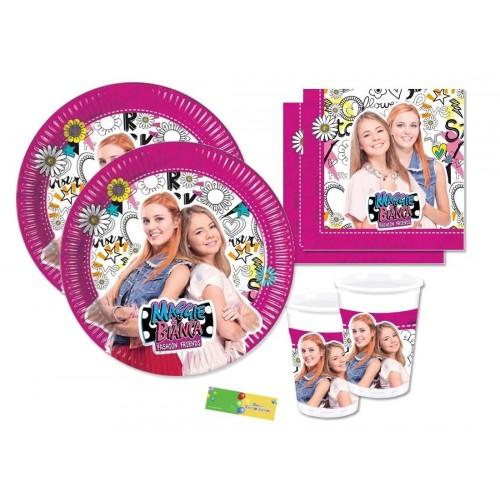 DECORATA PARTY Kit n 29 Addobbi Compleanno Maggie & Bianca Fashion Friends