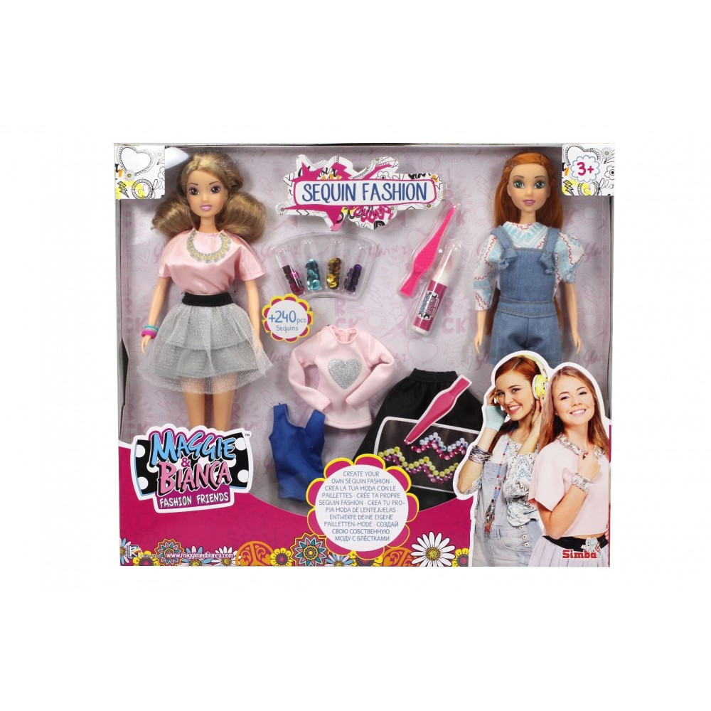 2 Bambole Di Maggie E Bianca Fashion Doll Con Accessori