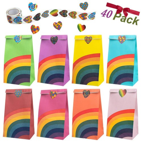 40 Sacchettini tema arcobaleno