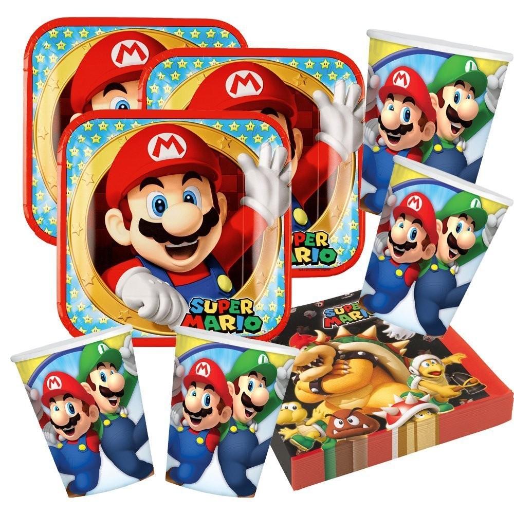 Kit 16 persone Super Mario Bros, coordinato tavola