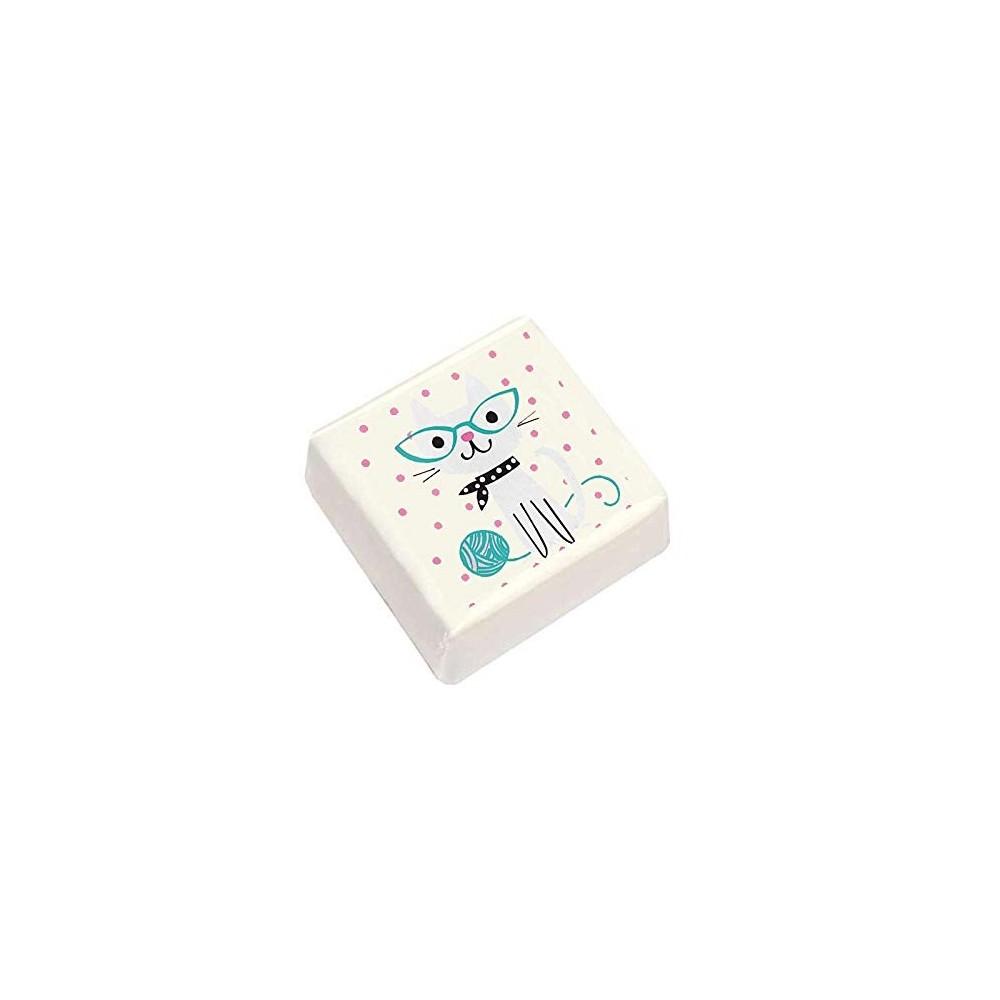 20 quadratini marshmallow tema gatti