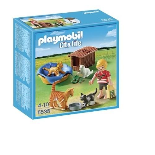 Playmobil -  Famigliola di Gattini con Cuccia