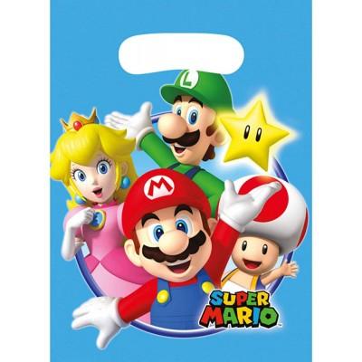 Sacchetti Super Mario Bros, 8 bustine per festa